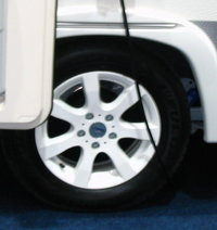 185R14C 102Q  PREMIUM     ALLOYWHEEL OJ 14-5 WHITE  -  for Caravan trailer