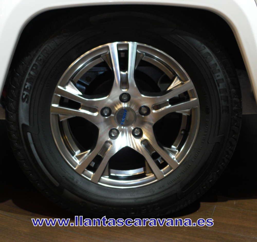 Aluminium Velg 6jx15 Type Tr7 Zilver Glimmend Voor Fendt Caravan